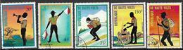 REPUBBLICA DELL'ALTO VOLTA 1973 SCAUTISMO YVERT. 287 + POSTA AEREA 150-153 USATA VF - Alto Volta (1958-1984)