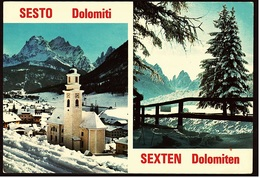 Sexten / Sesto / Dolomiten  -  Im Schnee  -  Rotwandwiesenhütte  -  Ansichtskarte Ca.1980  (9272) - Bolzano (Bozen)