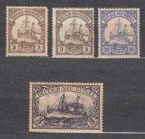 Germany Colonies New Guinea, Neu Guinea, Lot Mint Hinged (blue Stamp No Gum) - Colony: German New Guinea