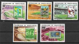 REPUBBLICA DELL'ALTO VOLTA 1978 COPPA MONDIALE DI CALCIO IN ARGENTINA YVERT. 444-448 USATA VF - Alto Volta (1958-1984)