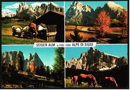 Seiser Alm  -  Alpe Du Siusi / Dolomiten  -  Mehrbild-Ansichtskarte Ca.1987    (9269) - Bolzano (Bozen)