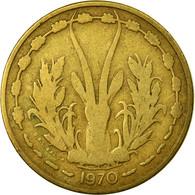Monnaie, West African States, 25 Francs, 1970, Paris, TB, Aluminum-Bronze, KM:5 - Côte-d'Ivoire