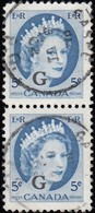 """Canada - Scott # O44 Official """"Overprinted"""" (1) / Used Stamp - Officials"""