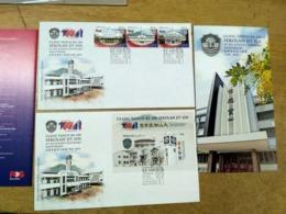 Malaysia 2018 China Chinese  Centenary Set Setenant Strip FDC + MS Combo  Special Postmark  Jit Sin School Penang - Malaysia (1964-...)