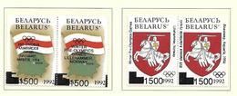 BELARUS-BIELORUSSIE 1994 SYMBOLES NATIONAUX SURCHARGE JO  YVERT N°48/51 NEUF MNH** - Bielorussia