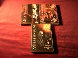 MILLENNIUM  3 SAISONS   SAISON 1 + 2 + 3  TOTAL 18 DVD  + 40 HEURES CHAPITRE - DVD