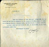 177 CASTIGLIONCELLO 1949 , CORRADO GRASSI , LETTERA INTESTATA - Italia