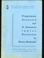178 SANTA MARINELLA PROGRAMMA II CONCORSO IPPICO 1963 PUBBLICITA' ALL'INTERNO ,20 PAGINE - Dépliants Turistici