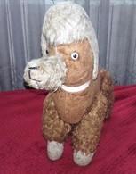 PELUCHE ANNEE1950 CHIEN CANICHE 33cm  7 SCAN - Cuddly Toys