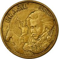 Monnaie, Brésil, 10 Centavos, 2002, TTB, Bronze Plated Steel, KM:649.2 - Brésil