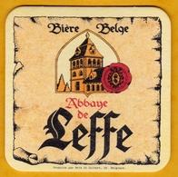 Sous-bock Cartonné - Bière - Belgique - Abbaye De Leffe - Abdij Van Leffe - Parchemin - Beer Mats