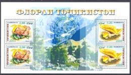 2004. Tajikistan, Mushrooms, S/s With Green Overprint,  Mint/** - Tadschikistan