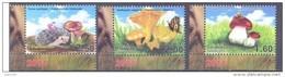 2014. Tajikistan, Mushrooms, 3v Perforated, Mint/** - Tadschikistan