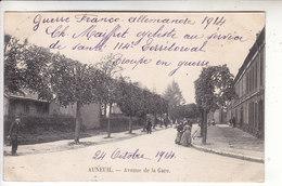 Sp- 60 - AUNEUIL - Avenue De La Gare - Femmes - Cachet - 1914 - Auneuil