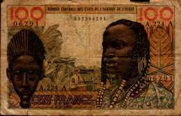 BANQUE CENTRALE DES ETATS DE L'AFRIQUE DE L'OUEST...100 FRANCS..1965 - Autres - Afrique