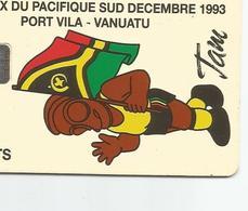 RARE Carte Mascotte Des Jeux   En 1993      Tirage5000 Ex   (tiroiburea) - Vanuatu