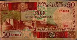 CENTRAL BONKOF SOMALIA   50...1989 - Somalie