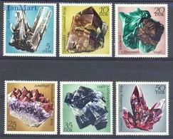 German Democratic Republic 1972 Mi 1737-1742 MNH ( ZE5 DDR1737-1742 ) - Minerals