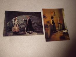LOT DE 2 CARTES MUSEE DE CIRE DU VIEIL ALBI ...JF GALAUP ET TOULOUSE LAUTREC - Musées