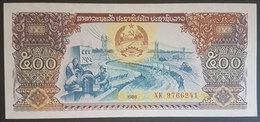 E11g2 - Laos Banknote, 1988, 500 Kip, P-31a, UNC - Laos