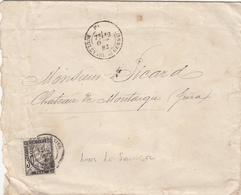 JURA ENV 1882 LONS LE SAUNIER T18 SUR 30C TAXE DUVAL 1ER MOIS D UTILISATION DU 30C TAXE USAGE HORS TAXE LOCALE - Marcophilie (Lettres)