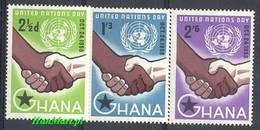 Ghana 1958 Mi 36-38 MNH ( ZS5 GHN36-38 ) - Ghana (1957-...)