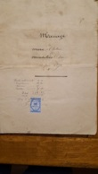 ACTE NOTARIE  VEYRE MENTON ET SOULASSE PUY DE DOME  CONTRAT DE MARIAGE  JUIN 1873 - Documentos Históricos