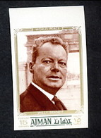 Ajman Willy Brandt Non Dentelé - Celebrità