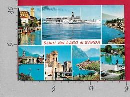 CARTOLINA VG ITALIA - Saluti Dal LAGO DI GARDA - Vedutine Multivue - 10 X 15 - ANN. 19?? - Saluti Da.../ Gruss Aus...