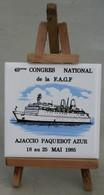 De1.q- Paquebot AZUR CNP NCP Compagnie Navigation PAQUET Marseille France FAGF EAGLE - Maritime & Navigational