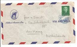 Scheepspost-Maritime Mail. OCEAN POST S.s.VEENDAM. Enface HC531 Enkel - Periode 1949-1980 (Juliana)