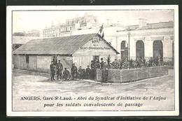 CPA Angers, Gare St-Laud, Abri Du Syndicat D'Initiative De L'Anjou Pour Les Soldats Convalescent De Passage - Angers