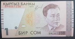 E11g2 - Kyrgyzstan Banknote, 1999, 1 Sum, P-15, UNC - Kirghizistan