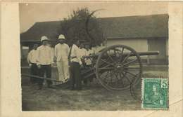 231118B - VIETNAM HANOI - CARTE PHOTO MILITARIA Militaire Colonie Canon - Viêt-Nam