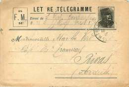 231118B - LETTRE TELEGRAMME FM - PRIVAS Ardèche - Storia Postale