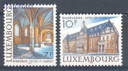 Luxembourg 1983 Mi 1081-1082 MNH ( ZE3 LXB1081-1082 ) - Eglises Et Cathédrales