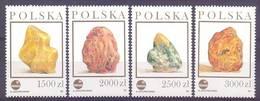 Poland 1993 Mi 3426-3429 MNH ( ZE4 PLD3426-3429 ) - Mineralien