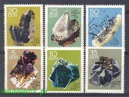 German Democratic Republic 1969 Mi 1468-1473 MNH ( ZE5 DDR1468-1473 ) - Minerals