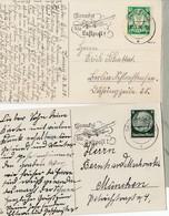 N° 178+ Hindenburg/ DR à / 2 CP /L  Captc *DANZIG*/ 17/73 8 & 10.12.40-> Lublin Et Munich + Flamme ... Luftpost - Dantzig