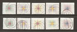 Pays-Bas 1987 - Noël - Etoile Stylisée - Série Complète 1301/5 - Non Dentelée à Gauche Et à Droite - Timbres