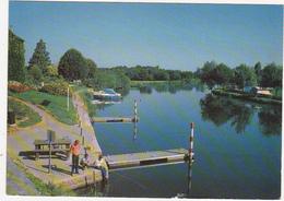 49 - LE LION D'ANGERS (M.-et-L.) - Le Port De Plaisance, La Mayenne Et Le Camping - 1990 / Pêcheurs - Angers