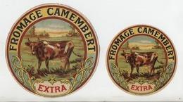 2 étiquettes De FROMAGE CAMEMBERT EXTRA: Fromagerie DAYOT De Combourg: 1920 - Kaas