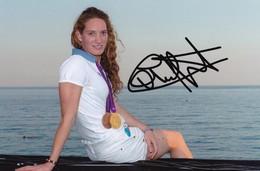 Camille Muffat - Autographe - Natation - Médaillée Olympique - Autografi