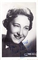CP - Foto Photo Artiste Opéra Dédicace Handtekening Autographe  - Agnes Léger - Entertainers