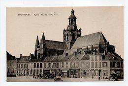 - CPA BOURBOURG (59) - Eglise - Marché Aux Chevaux - Edition Lib. Vve Janssoone - - Autres Communes