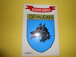 GEVAUDAN - Ecusson Adhésif - - France