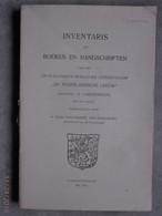 """'s-Gravenhage. Inventaris...Genealogisch-Heraldiek Genootschap """"De Nederlandsche Leeuw"""". (1911) - Histoire"""