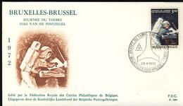 Belgique  Espace  Lune Journée Du Timbre 1972   - 736 - Europa