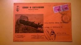 1958 BUSTA COMUNALE INTESTATA COMUNE DI CASTELFIDARDO TEMATICA BOLLO SIRACUSANA DESTINATA PROCURA REPUBBLICA - 6. 1946-.. Repubblica