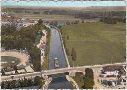 55 - EN AVION AU-DESSUS DE ... COMMERCY (Meuse) - Le Canal (Péniche) - 1965 - Commercy